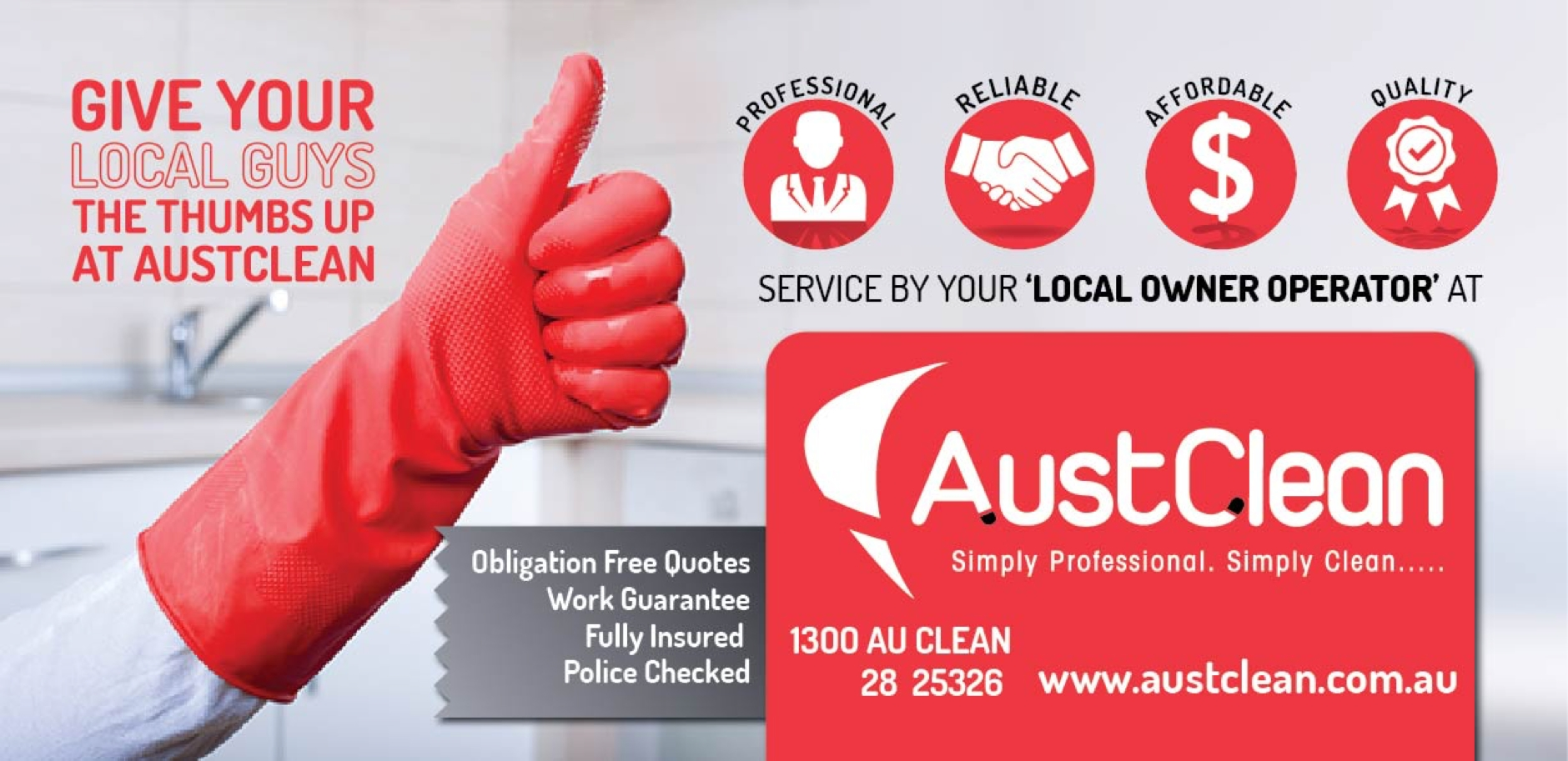 austclean cleaning marketing
